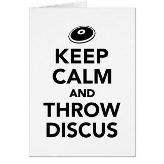 Keep calm and throw discus card