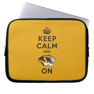 Keep Calm and Tiger on Computer Sleeves