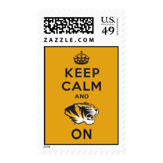 Keep Calm and Tiger on Postage Stamps