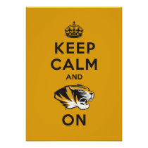 Keep Calm and Tiger on Poster