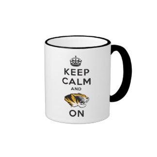 Keep Calm and Tiger on Ringer Mug