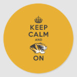 Keep Calm and Tiger on Round Sticker