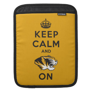Keep Calm and Tiger on Sleeve For iPads