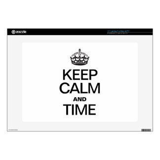 KEEP CALM AND TIME LAPTOP DECALS