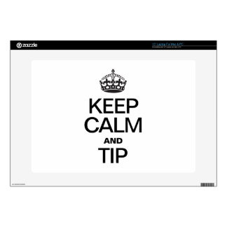 KEEP CALM AND TIP LAPTOP SKIN