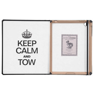 KEEP CALM AND TOW iPad FOLIO CASE