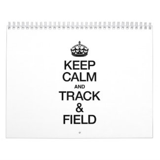KEEP CALM AND TRACK AND FIELD WALL CALENDAR