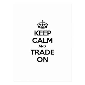 Keep Calm and Trade On Postcard