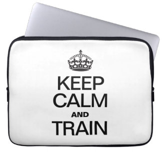 KEEP CALM AND TRAIN LAPTOP COMPUTER SLEEVES