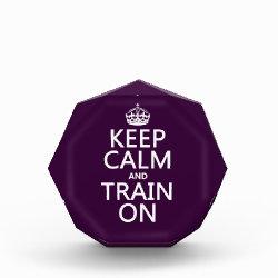 Small Acrylic Octagon Award with Keep Calm and Train On design