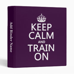 Avery Signature 1' Binder with Keep Calm and Train On design