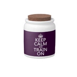 Candy Jar with Keep Calm and Train On design