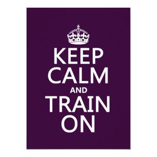 Keep Calm and Train On (customizable color) Card