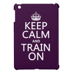 Case Savvy iPad Mini Glossy Finish Case with Keep Calm and Train On design
