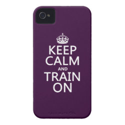 Case-Mate iPhone 4 Barely There Universal Case with Keep Calm and Train On design
