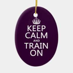 Oval Ornament with Keep Calm and Train On design