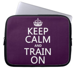 Neoprene Laptop Sleeve 10 inch with Keep Calm and Train On design