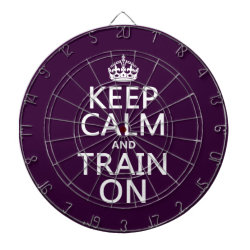 Megal Cage Dart Board with Keep Calm and Train On design