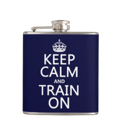 Vinyl Wrapped Flask, 6 oz. with Keep Calm and Train On design