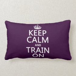 Throw Pillow Lumbar 13' x 21' with Keep Calm and Train On design