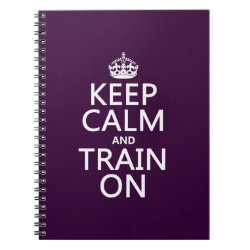 Photo Notebook (6.5' x 8.75', 80 Pages B&W) with Keep Calm and Train On design