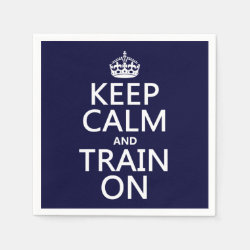 Paper Napkins with Keep Calm and Train On design