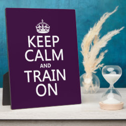 Photo Plaque 8' x 10' with Easel with Keep Calm and Train On design