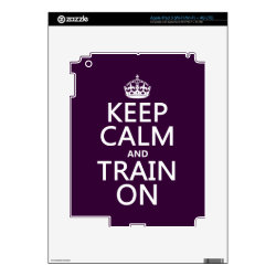 Amazon Kindle DX Skin with Keep Calm and Train On design