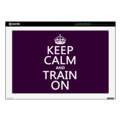 17' Laptop Skin for Mac & PC with Keep Calm and Train On design