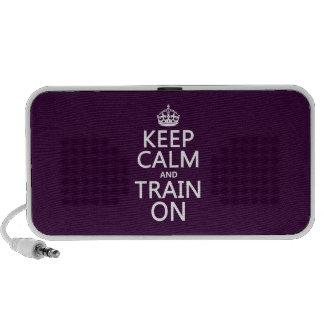 Keep Calm and Train On (customizable color) Mini Speaker