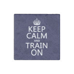 Marble Magnet with Keep Calm and Train On design