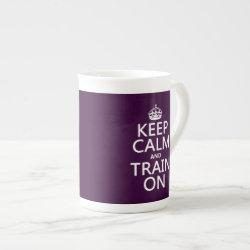Bone China Mug with Keep Calm and Train On design