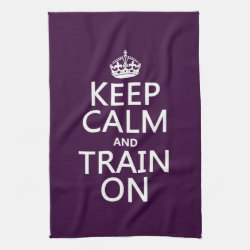 Kitchen Towel 16' x 24' with Keep Calm and Train On design