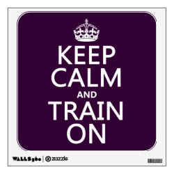 Walls 360 Custom Wall Decal with Keep Calm and Train On design