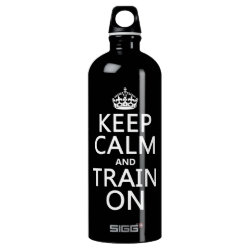 SIGG Traveller Water Bottle (0.6L) with Keep Calm and Train On design