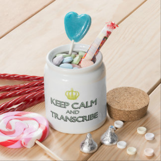 Keep Calm and Transcribe Candy Jars