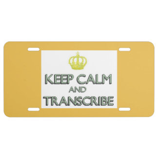 Keep Calm and Transcribe License Plate