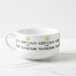 Keep Calm and Transcribe Soup Mug