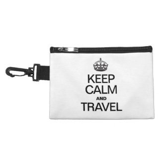 KEEP CALM AND TRAVEL ACCESSORY BAGS