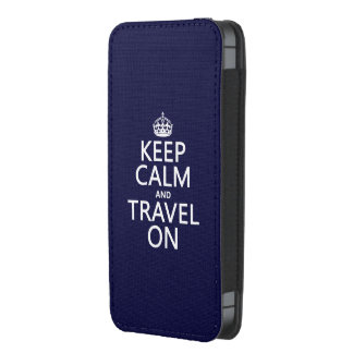 Keep Calm and Travel On - any colors iPhone 5 Pouch