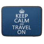 Keep Calm and Travel On - any colors MacBook Pro Sleeve