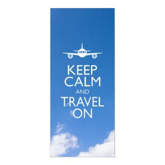KEEP CALM AND TRAVEL ON CARD