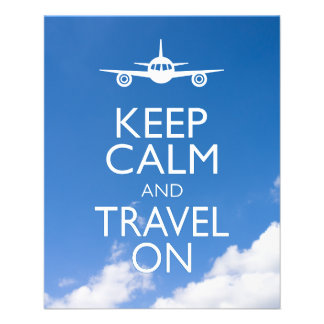 KEEP CALM AND TRAVEL ON FLYER