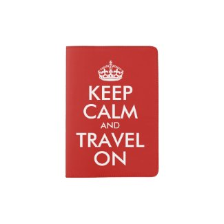 Keep Calm And Travel On Personalized Passport Holder
