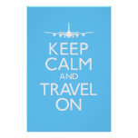 Keep Calm and Travel On Poster