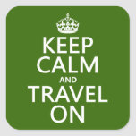 Keep Calm and Travel On Sticker