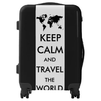 Keep calm and travel the world luggage