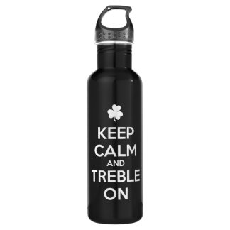 KEEP CALM and TREBLE ON - Irish Dance Water Bottle