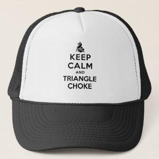 keep calm and triangle choke trucker hat