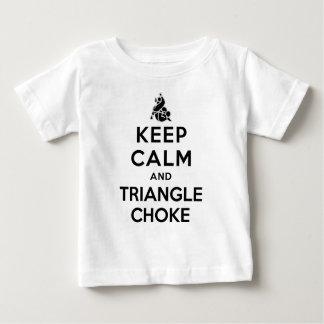 keep calm and triangle choke tshirt